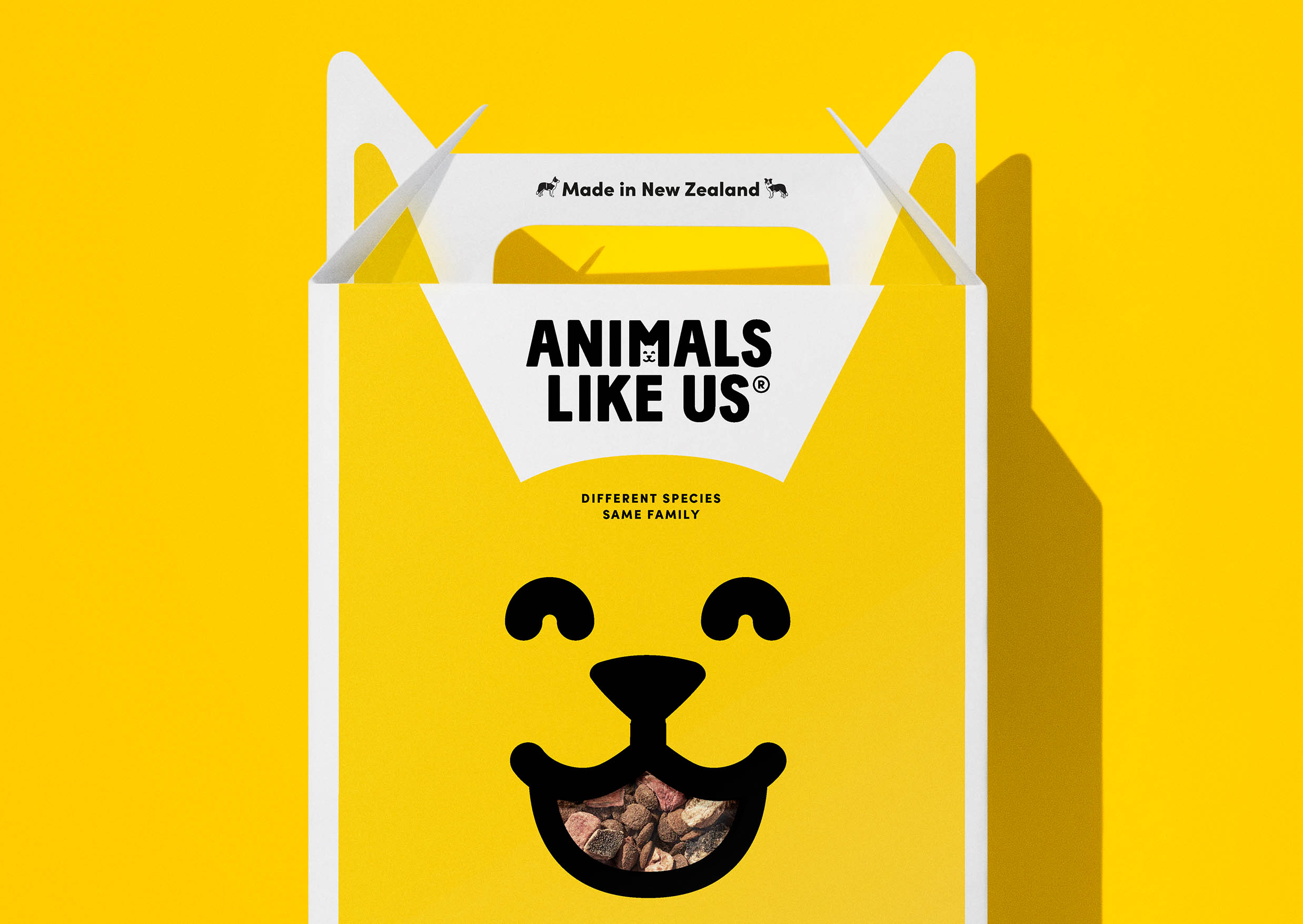 Marx Design Develop Brand Identity and Promotional Material for New Zealand Pet Food Disruptors Animals Like Us