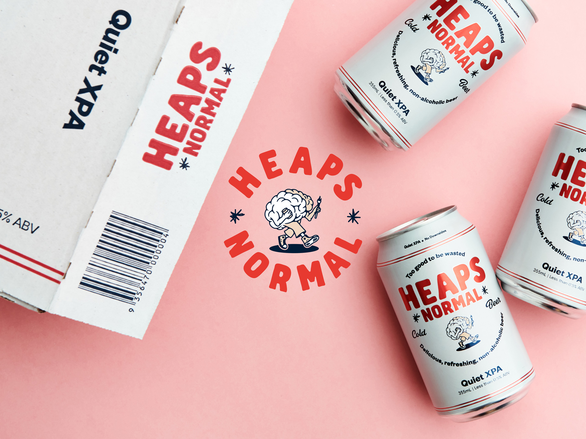 Electric and Analog Create Heaps Normal Cold Beer Branding