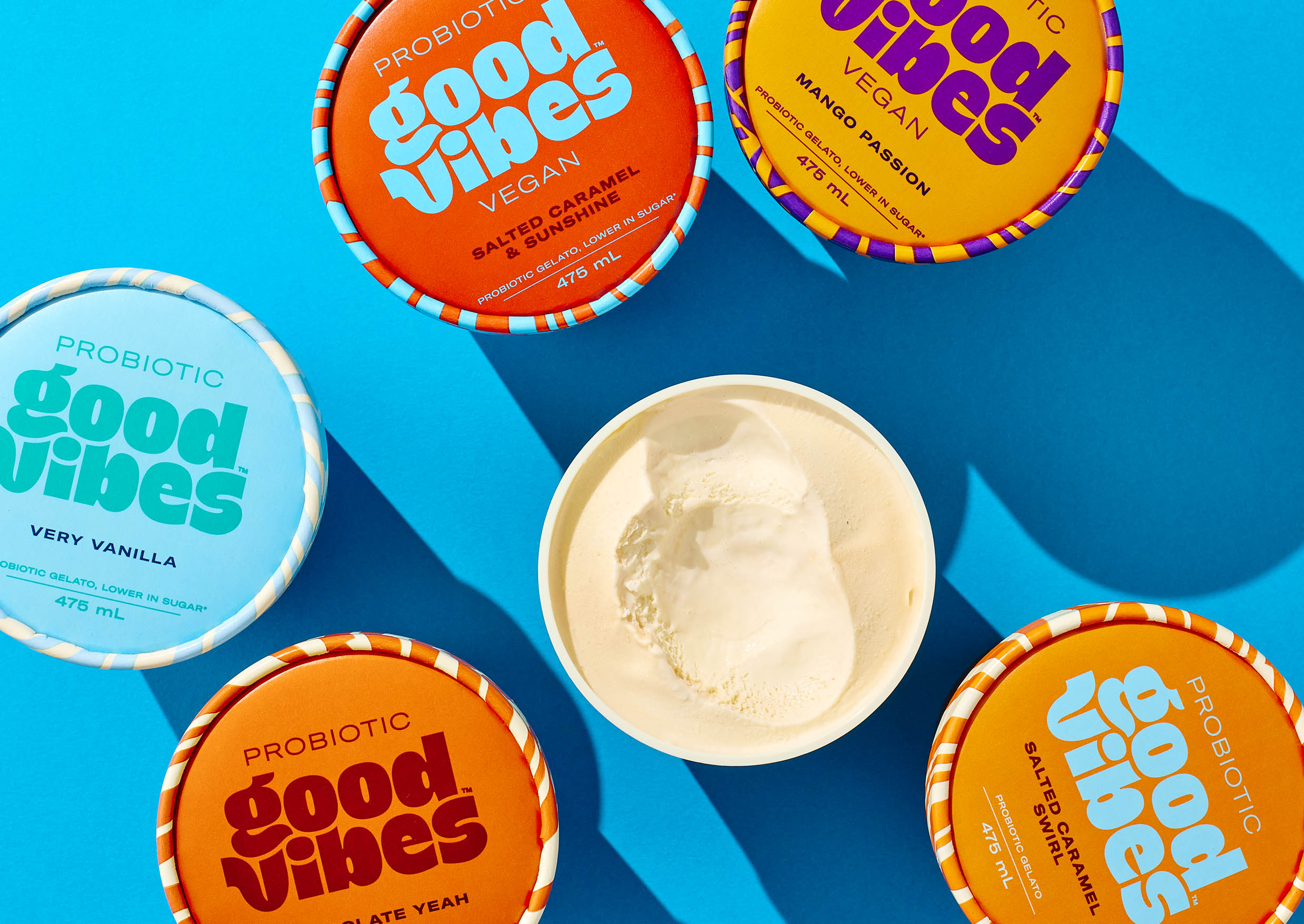 Wholesome and Organic Abstract Design for Good Vibes Probiotic Ice Cream by Marx Design
