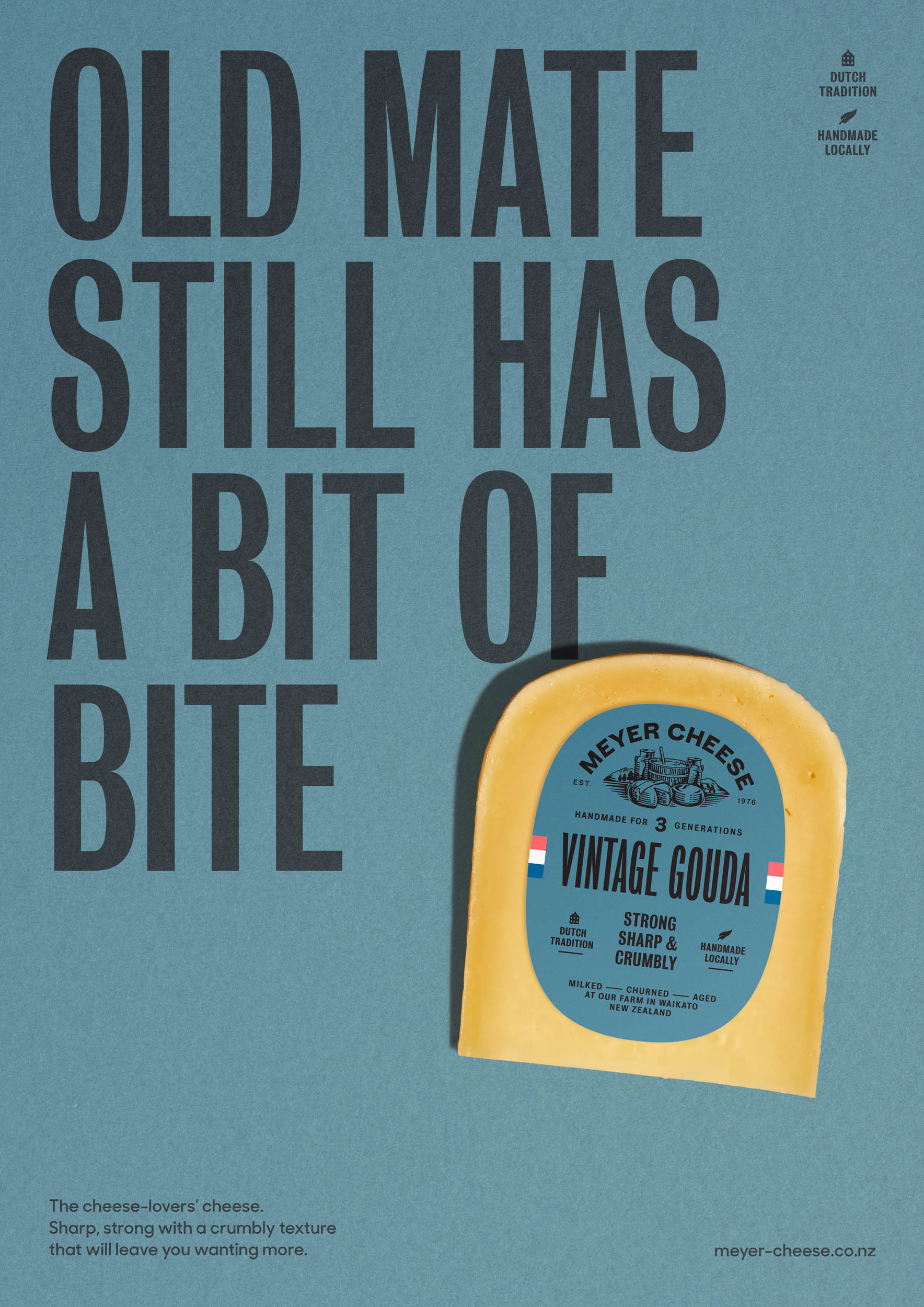 Meyer Cheese Packaging Labelling Designed by Marx Design