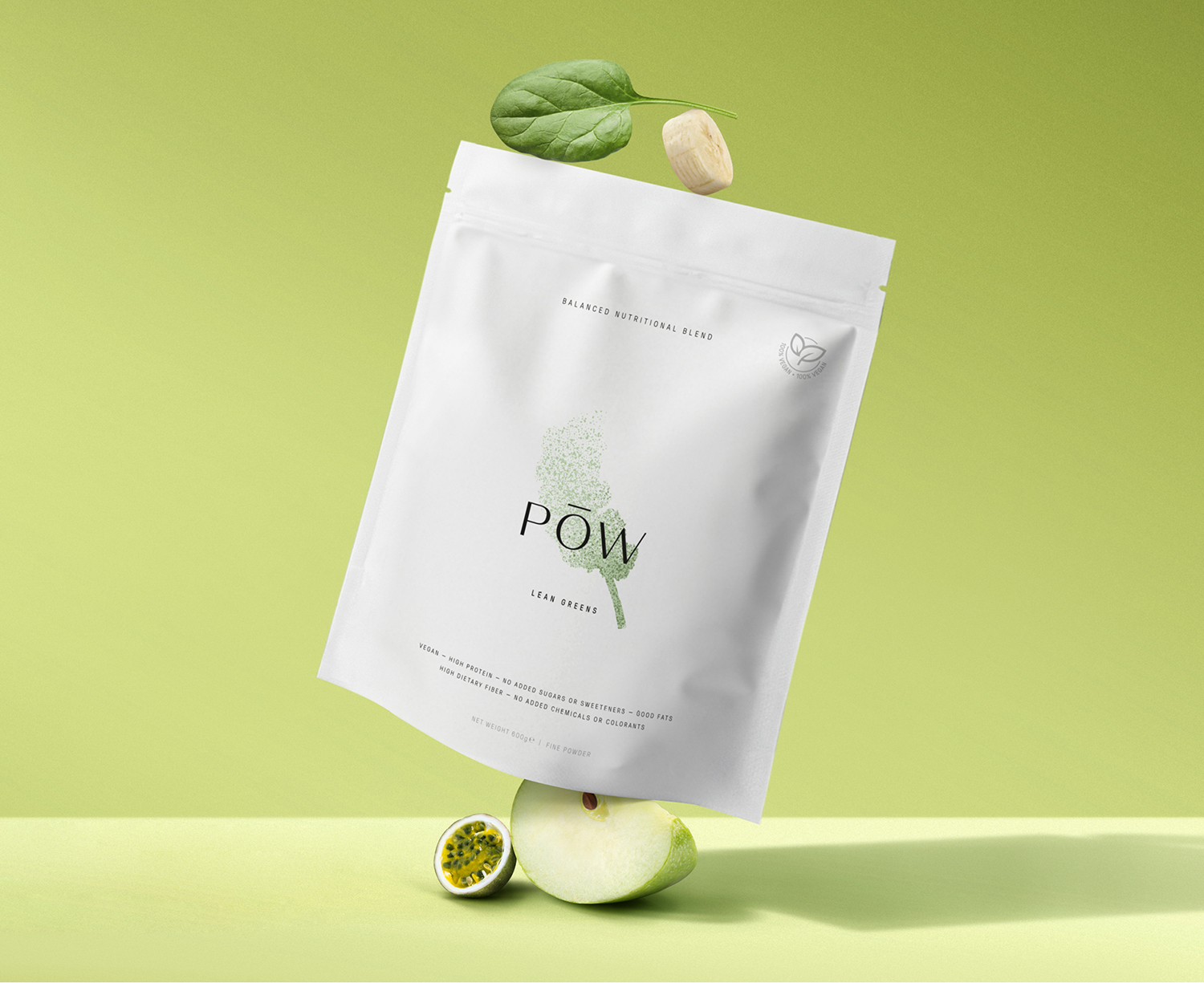 Pōw Nutritional Blends Brand and Packaging Design Created by Davy Dooms
