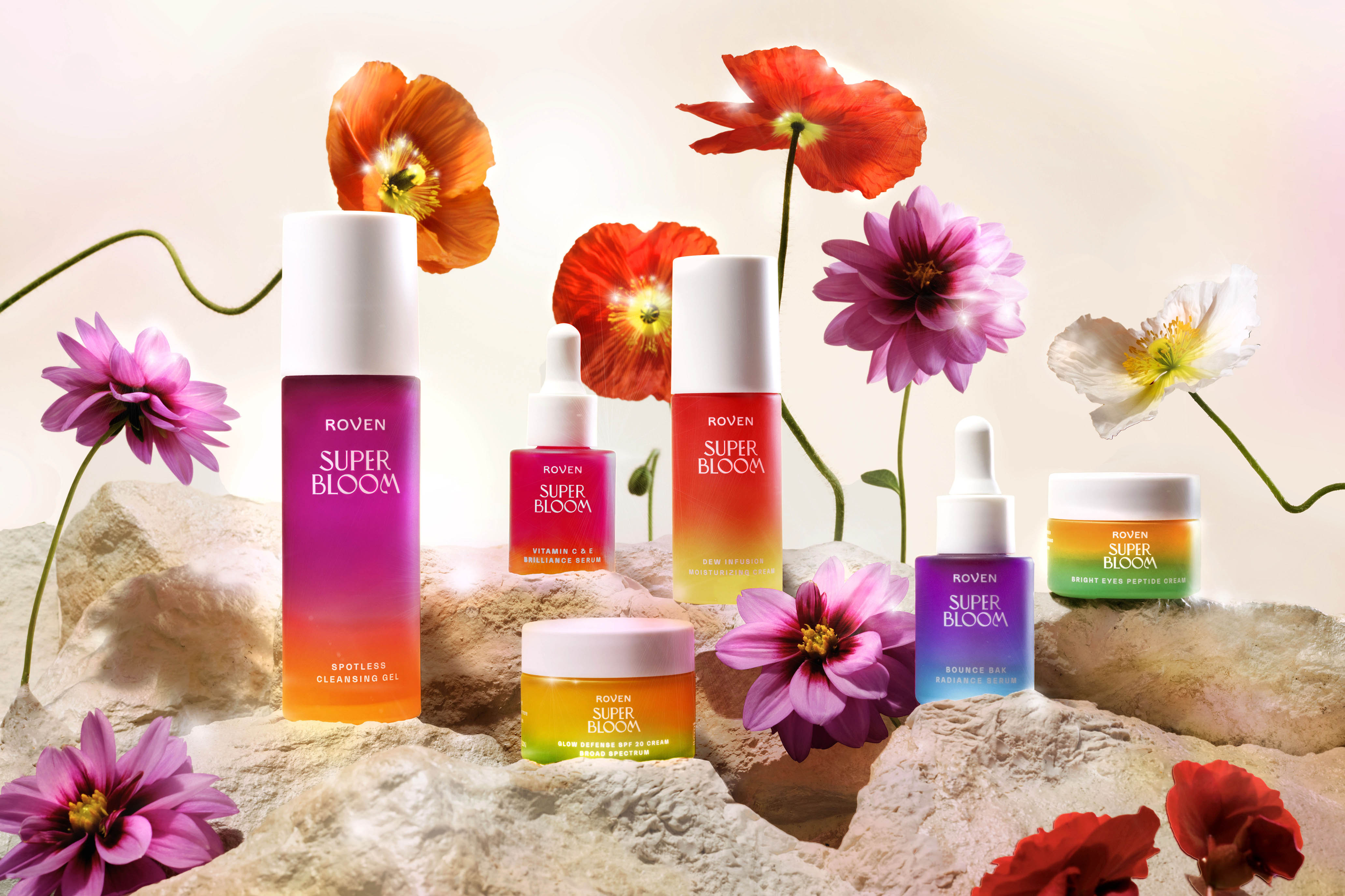 Grove Collaborative SuperBloom Skin Care Brand Identity and Packaging Design by Hatch Design