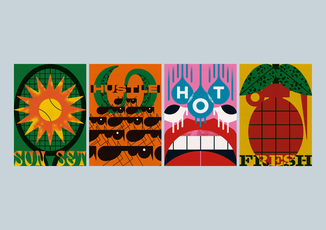Poster_Escape is a New Collection of 36 Posters by Prague-based Graphic Designer Mario Carpe