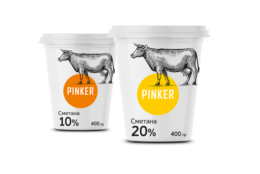 Pinker Dairy Products Packaging Design