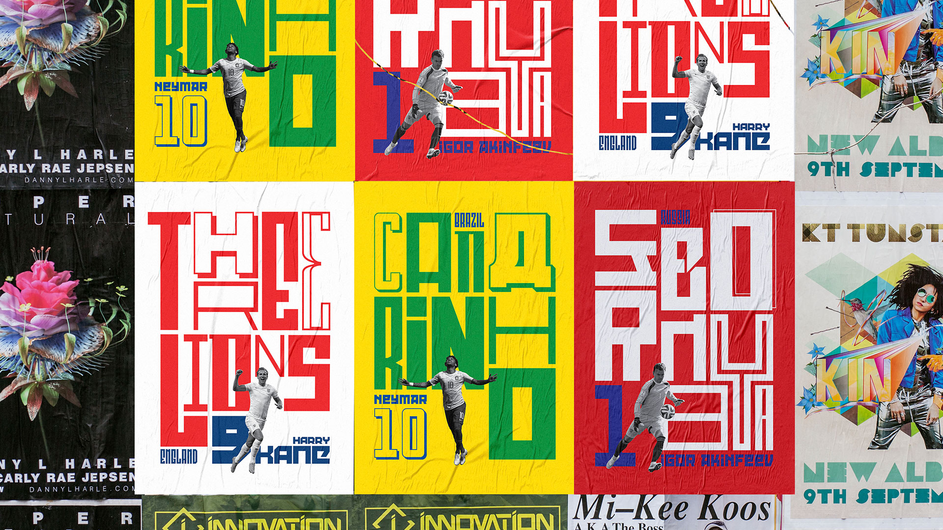 Self Promotional and Published World Cup Posters