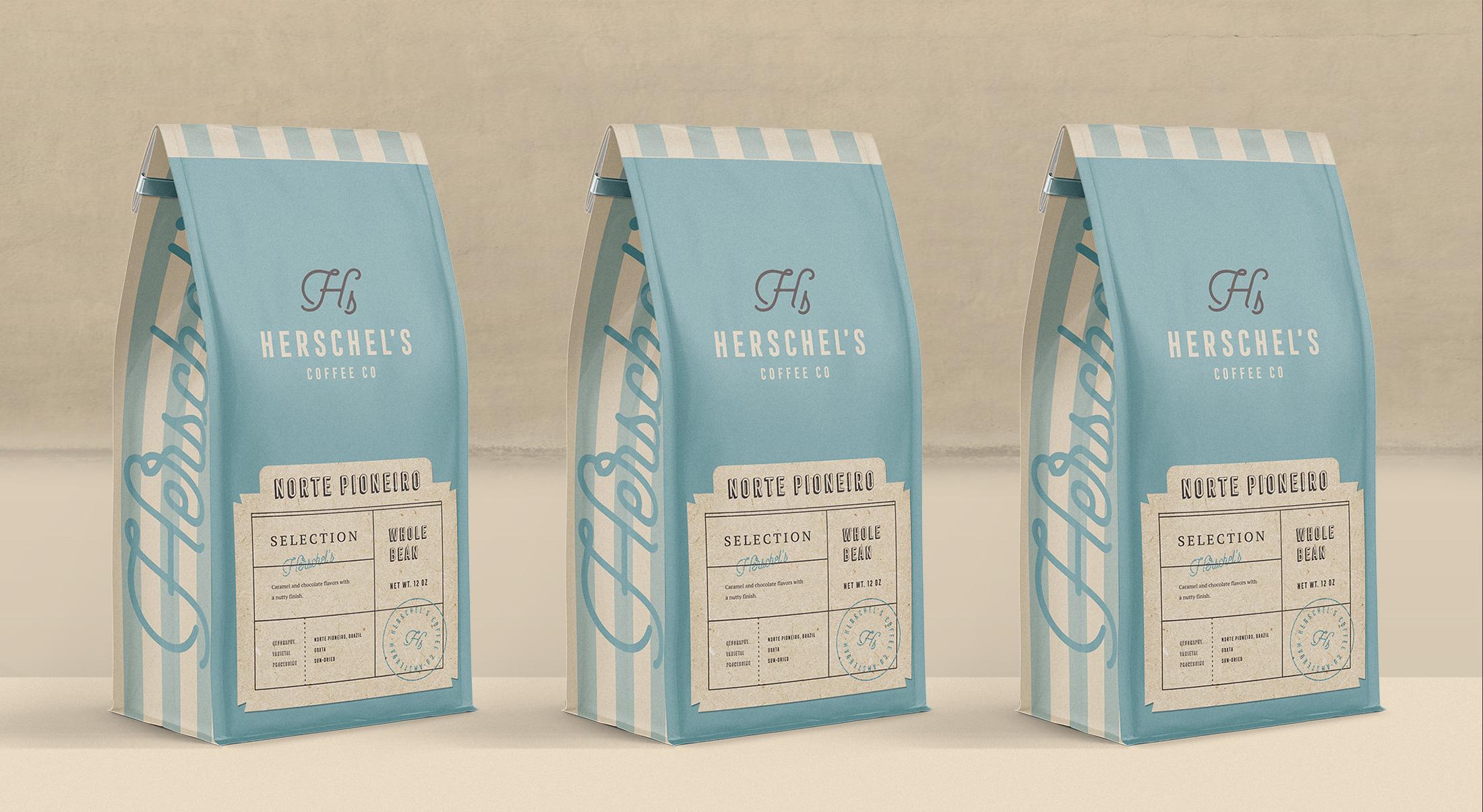 Branding and Packaging for Herschel's Coffee Co.