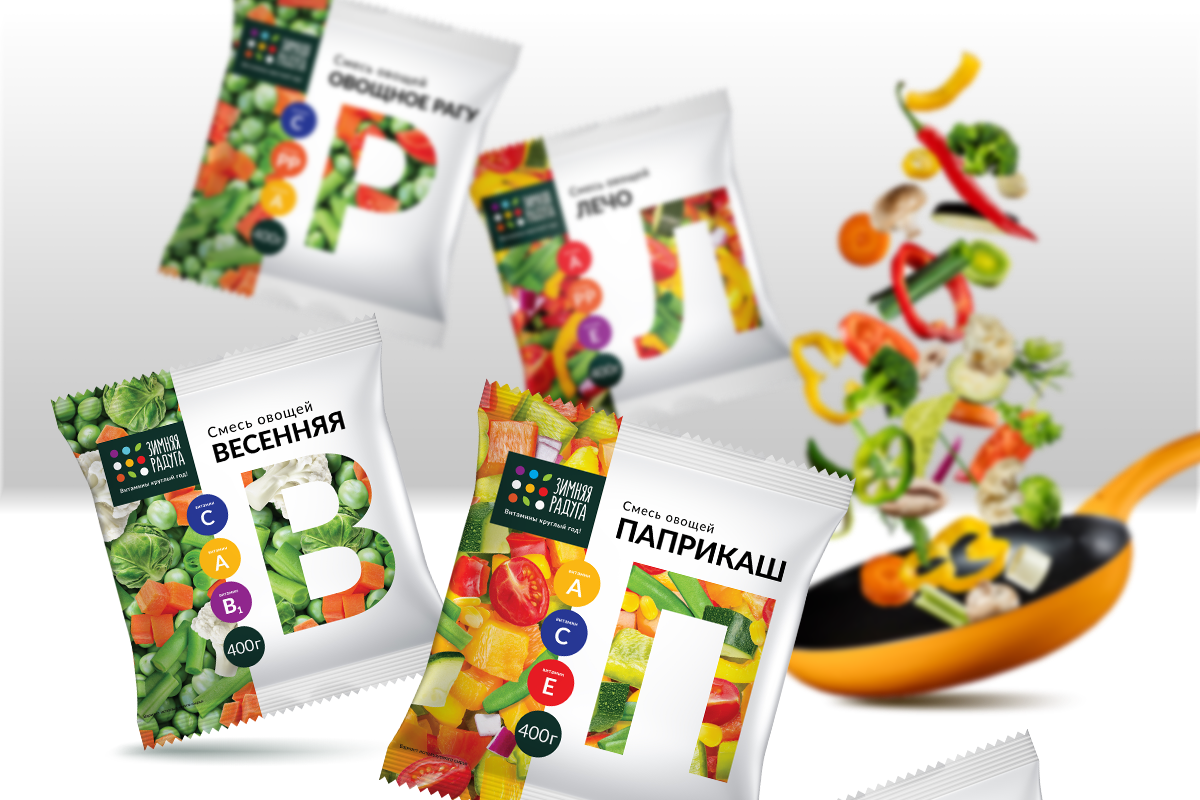 Packaging Design For Provit Frozen Vegetables
