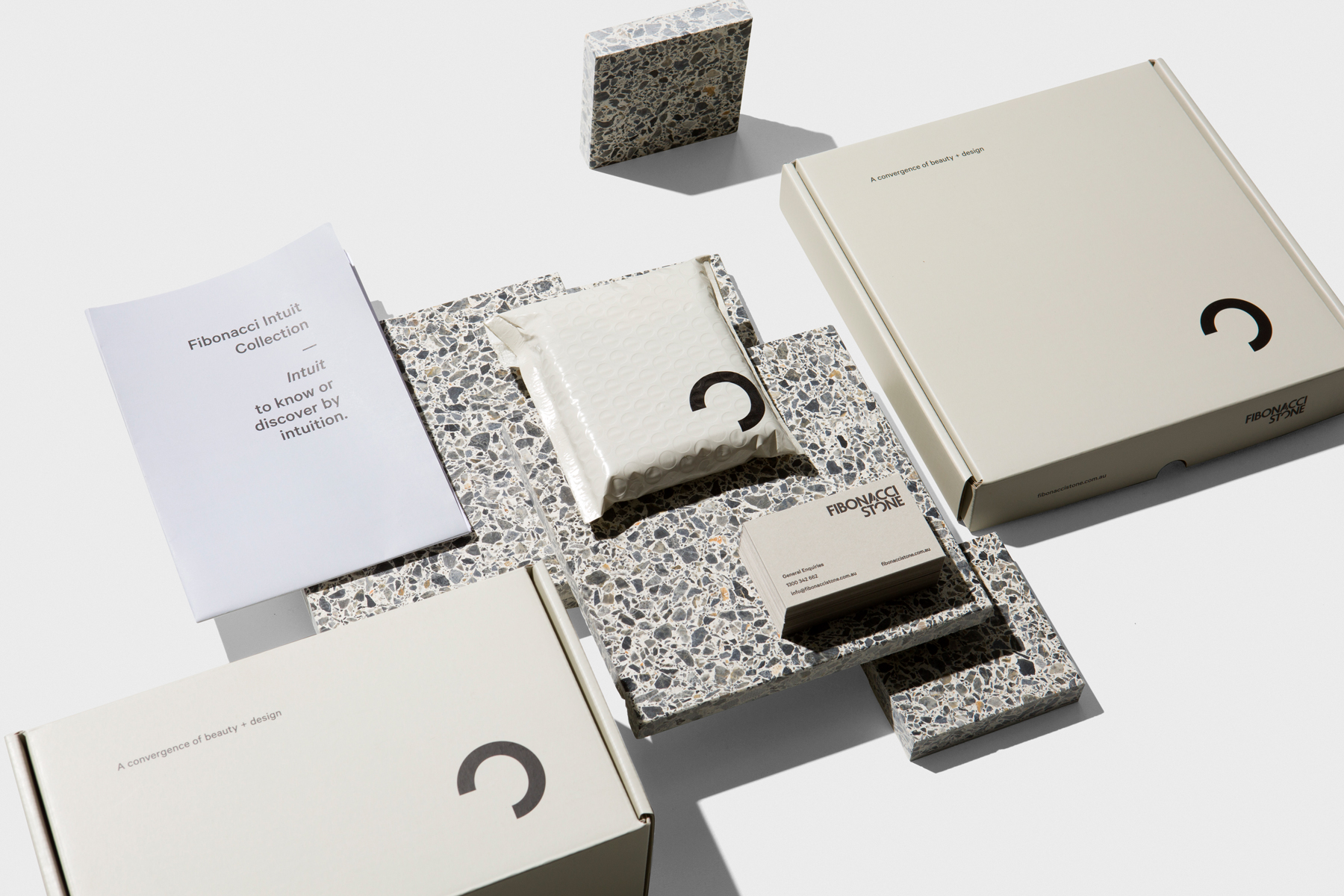 Brand Evolution Fibonacci Stone Packaging Design