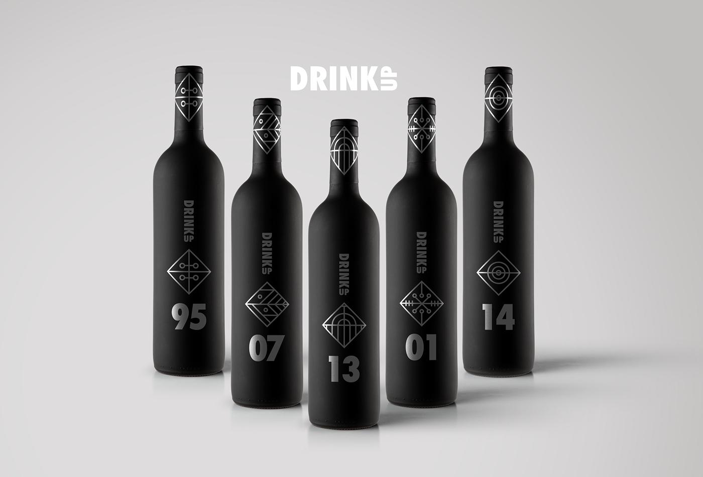 Drink Up Wine Label Design Concepts