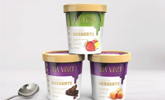 Frozen Desserts Packaging with Two Fronts for Canadian Market Official Languages