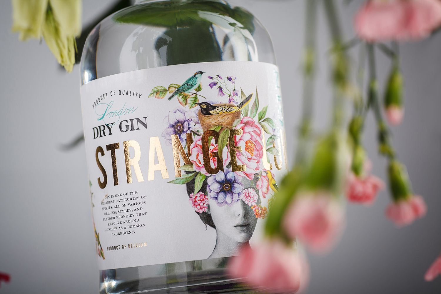 Strange Luve Dry Gin Label Design