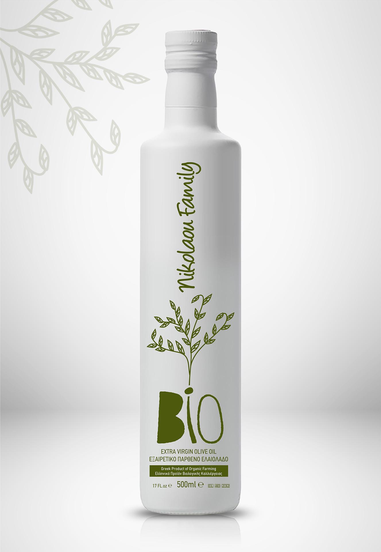 Bottle Design for Family Organic Olive Oil