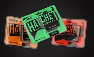 Hatchet Hair Removal Cream for Men (Concept)