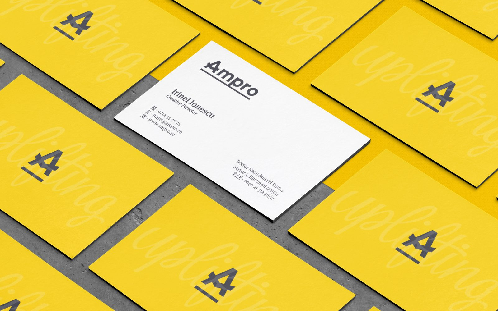 Inhouse Made Rebranding Project for Ampro Design Consultants