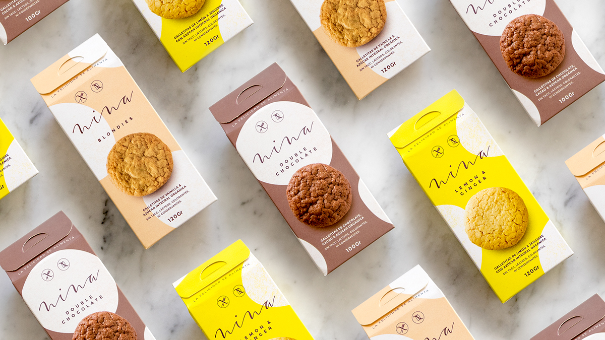 Visual Brand Identity and Design for Healthy Handmade Tasty Cookies