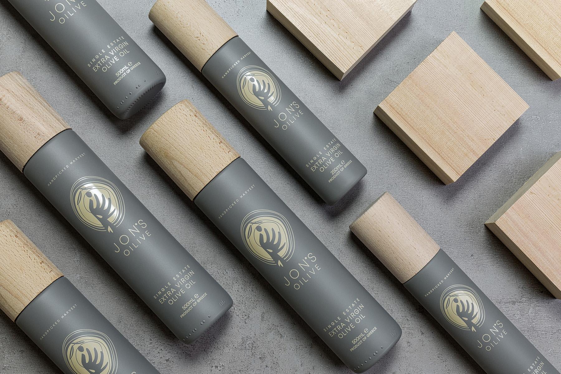 Jon's Oilive Olive Oil Packaging Design