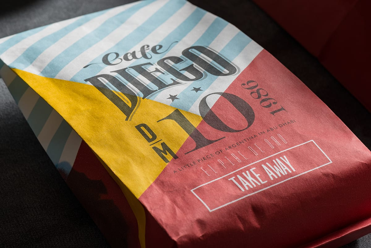 Cafe Diego Branding in the Name of Maradonna