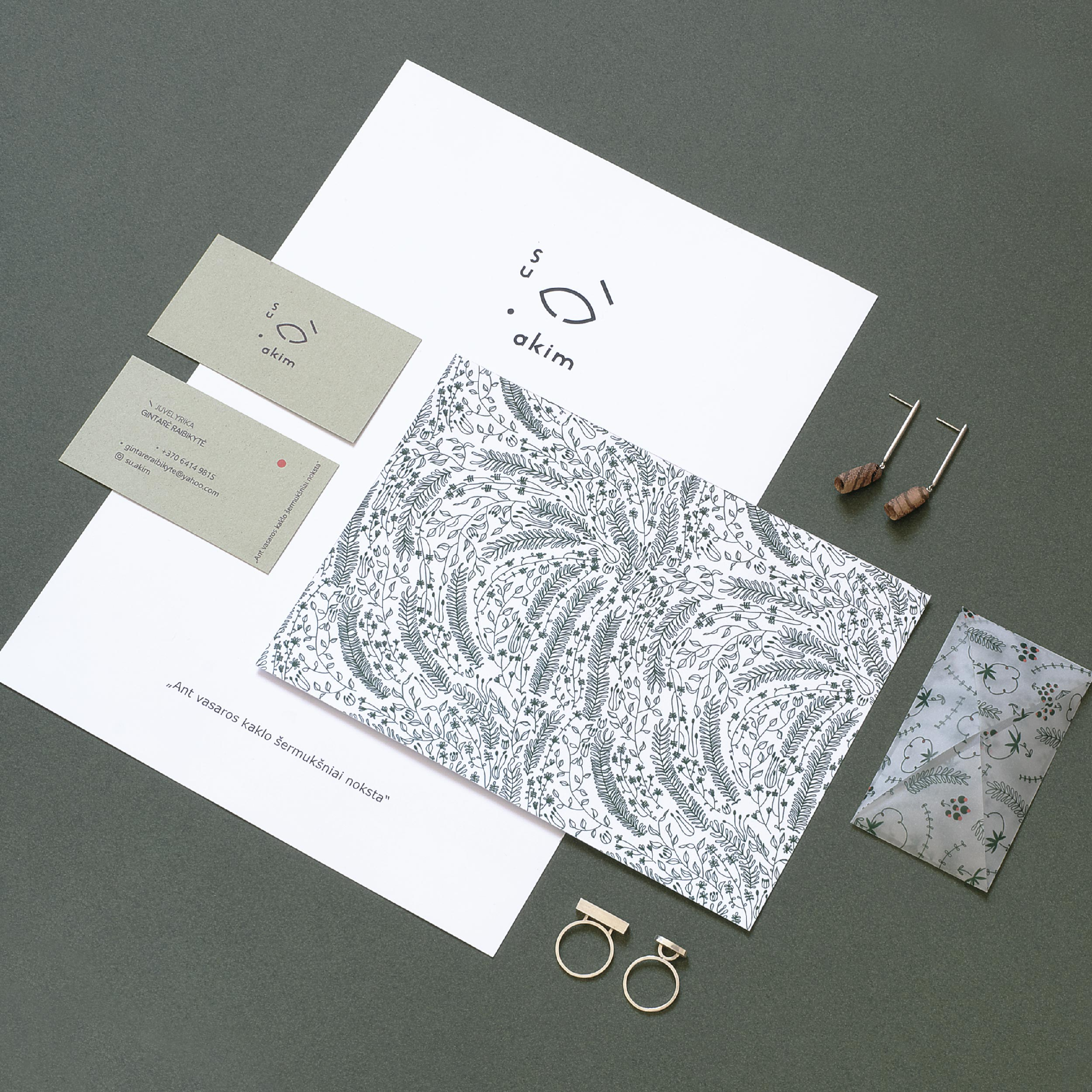 "Branding for a Jewelry Designer ""Su akim"""