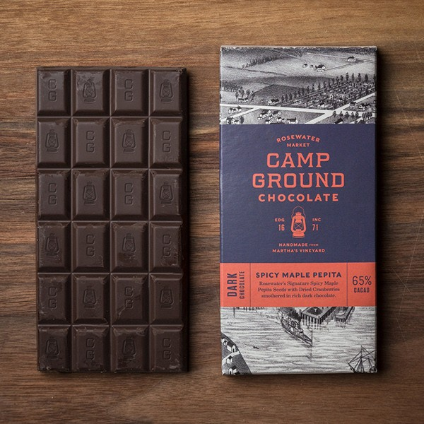 Hand-Made Chocolate Bar and Packaging Design Crafted for American Confectionary Brand