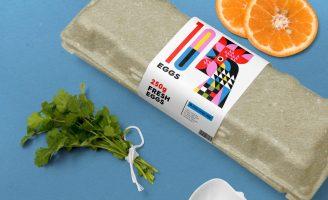Label Design for a Fictive Egg Producer Company
