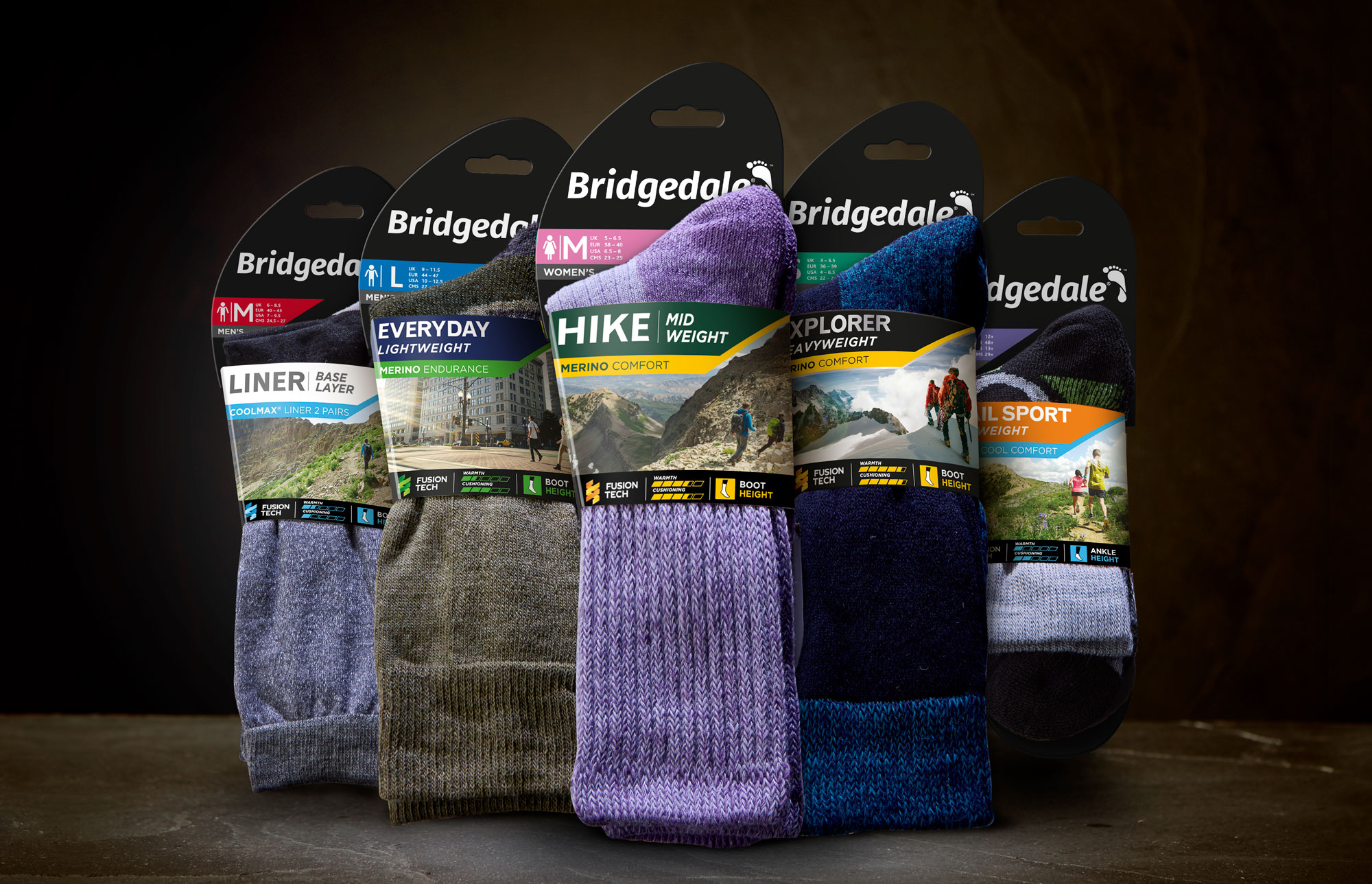 Updated Brand Identity and Improved SKU Navigational System for Socks