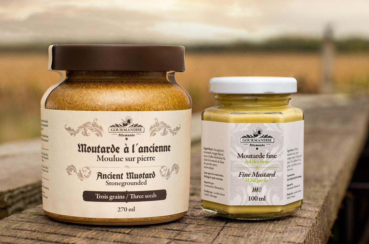 Branding and Packaging Design for Gourmandise Allemande Artisanal Mustard