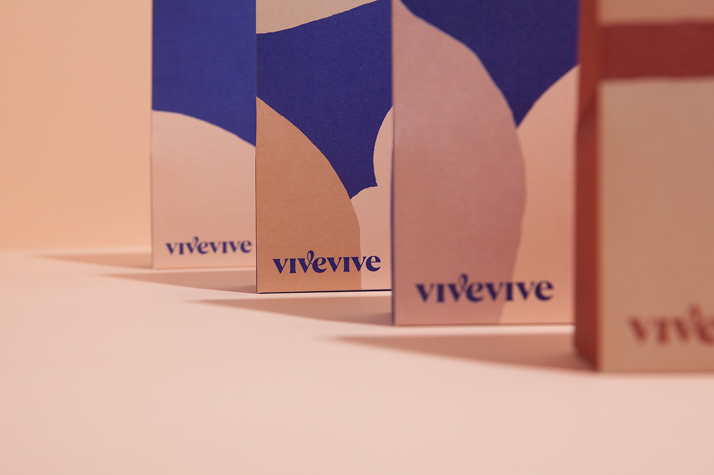 Visual Identity and Packaging Design for Women's Period-Proof Underwear Brand Vivevive