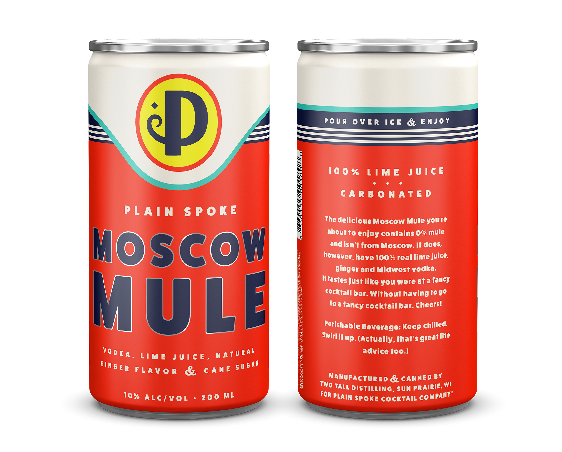 Ready-to-Drink Cocktails in a Can Branding and Packaging with a Slight Vintage and Midwestern Aesthetic