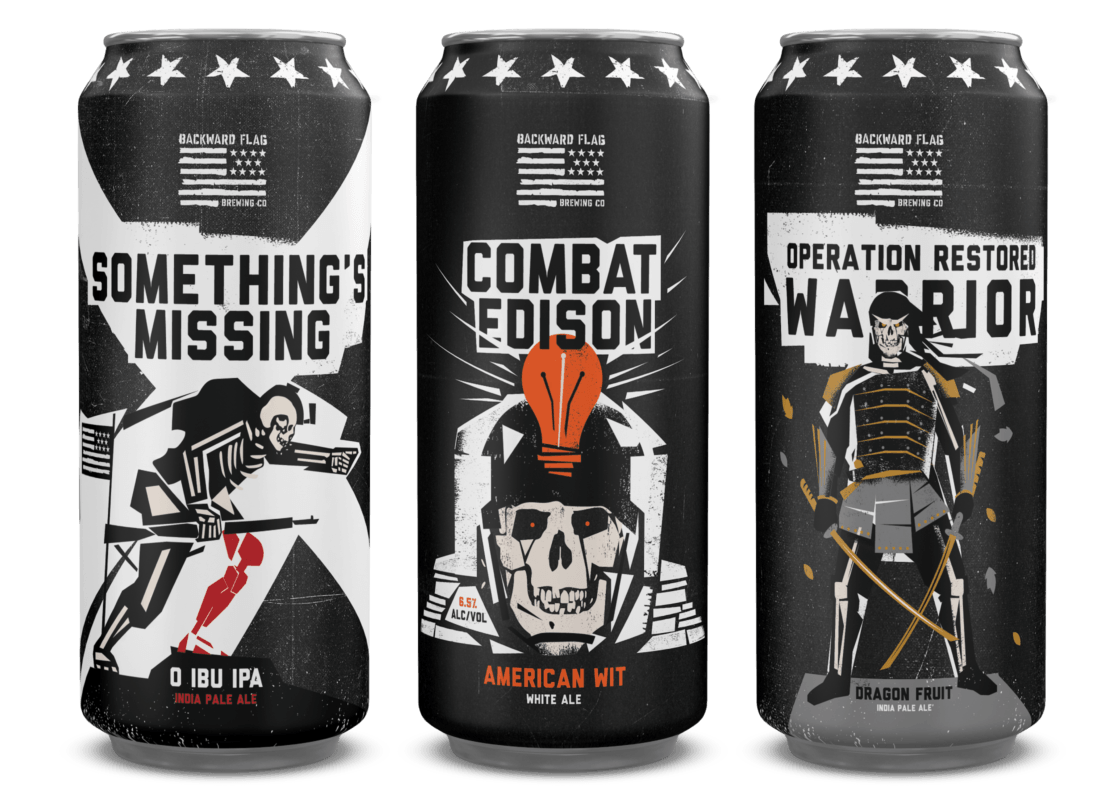 Backward Flag Brewing Special Beers to Help Veterans Across the United States