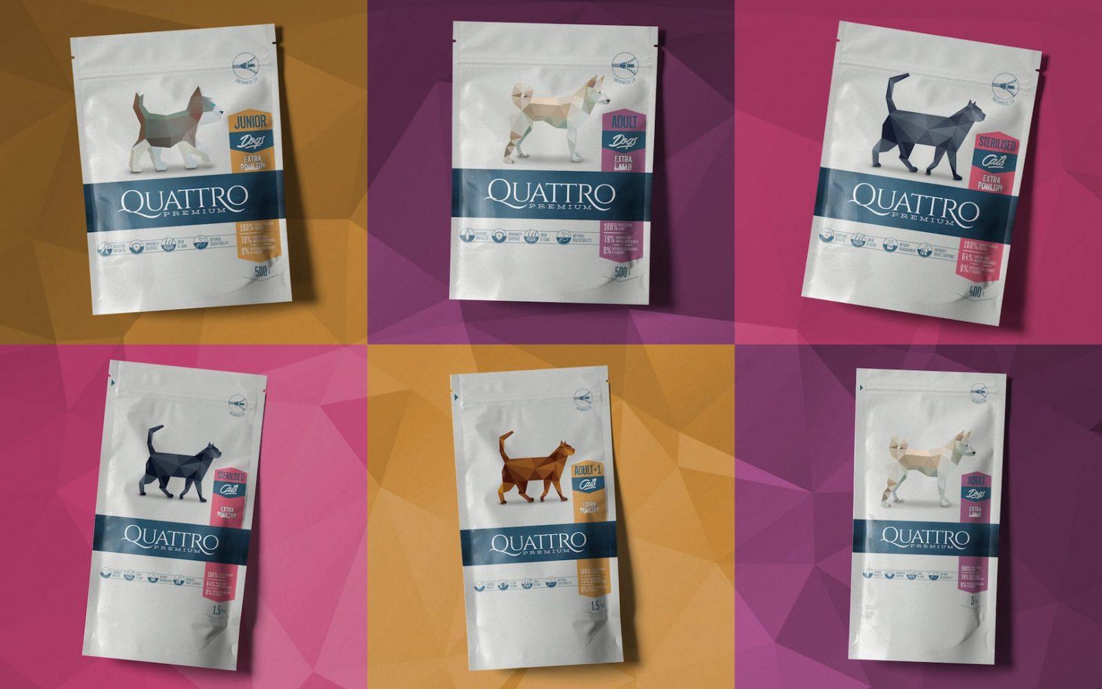 Quattro Pet Packaging Design