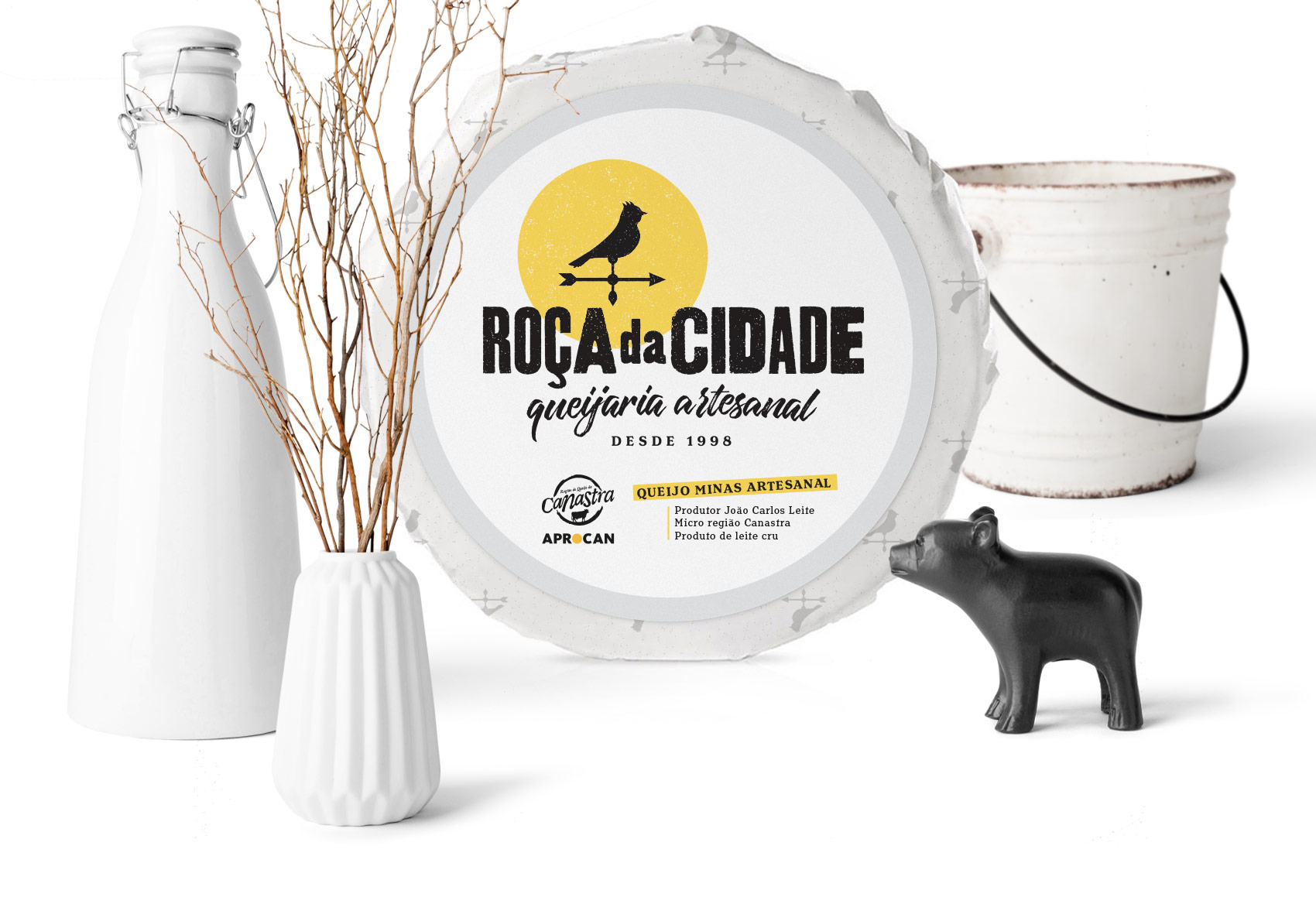 Brand and Packaging for Handmade Cheese Factory from Brazil
