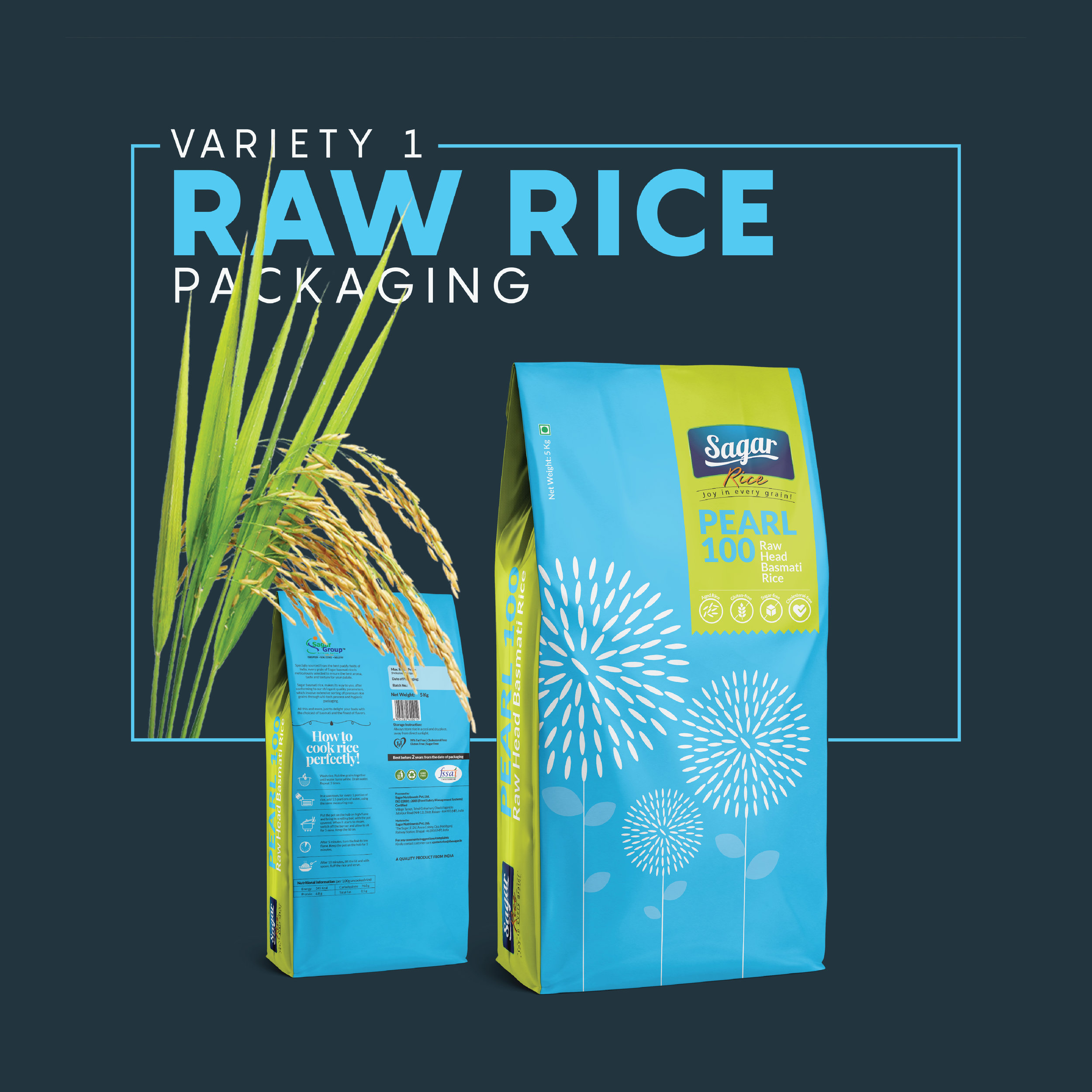 Minimal and Conceptual Packaging Design for a Rice Brand