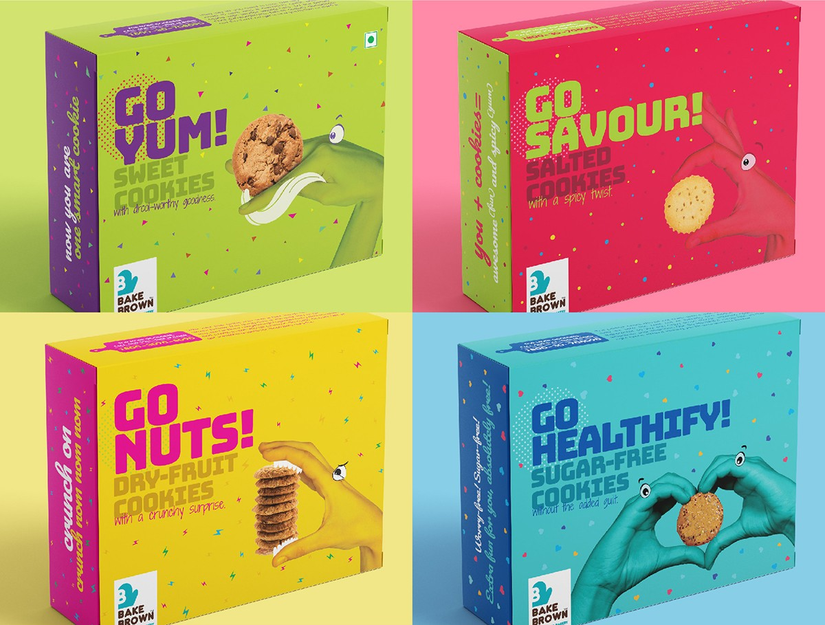 Quirky Conceptual Packaging Design for Cookie Box