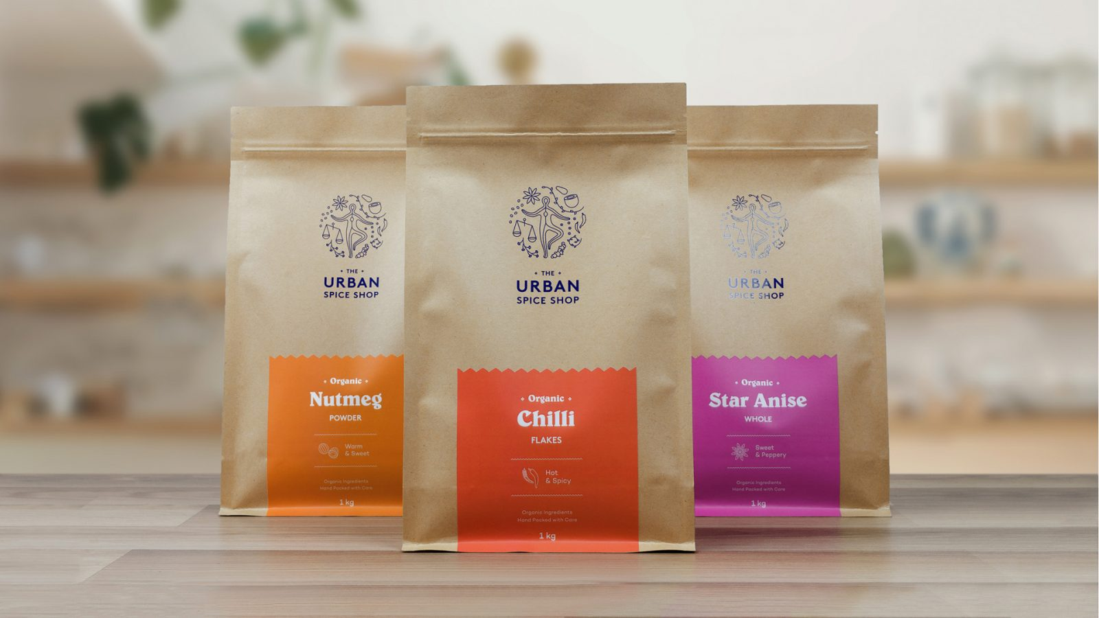 Brand Identity and Packaging Design for The Urban Spice Shop
