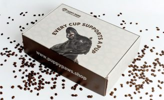 Furtastic Subscription Box and Packaging Design for Puppy Paws Coffee Company
