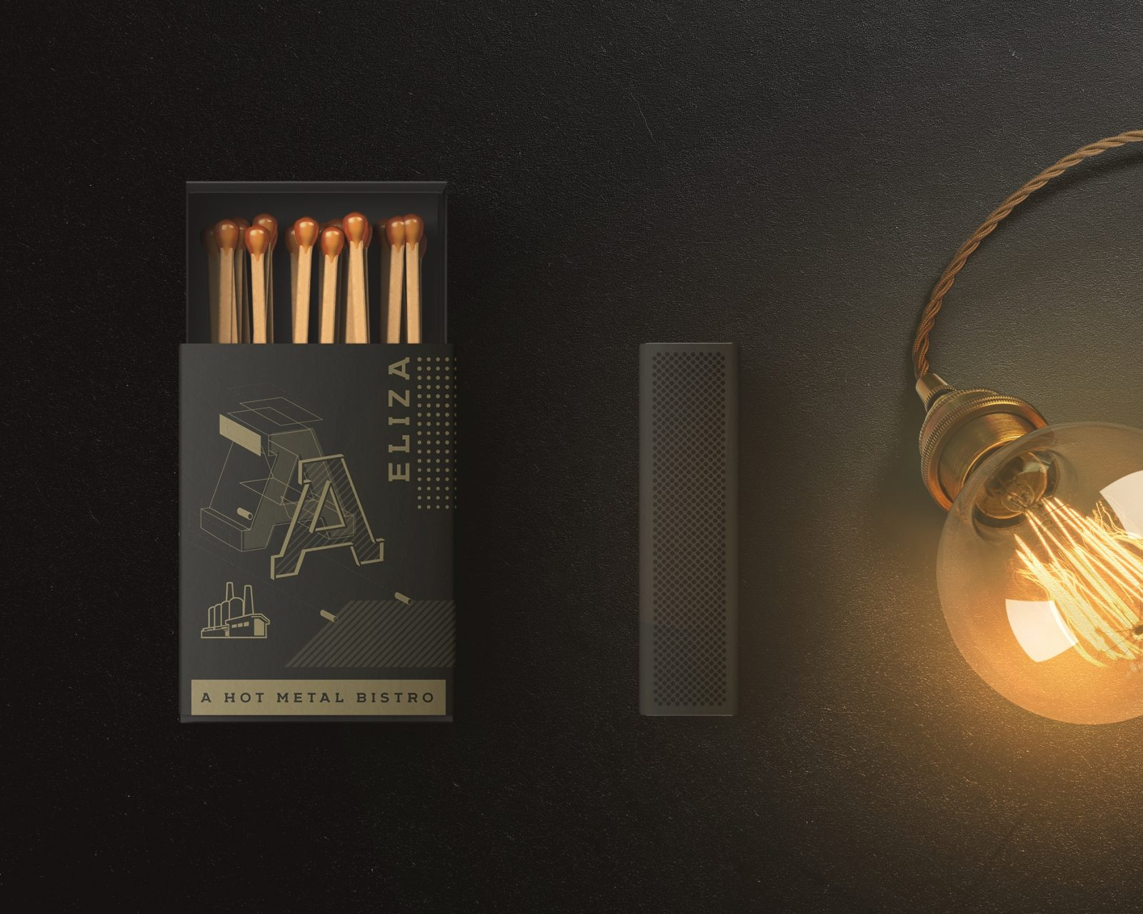 Branding for Hot Metal Bistro with A Past That Can't Be Forgotten