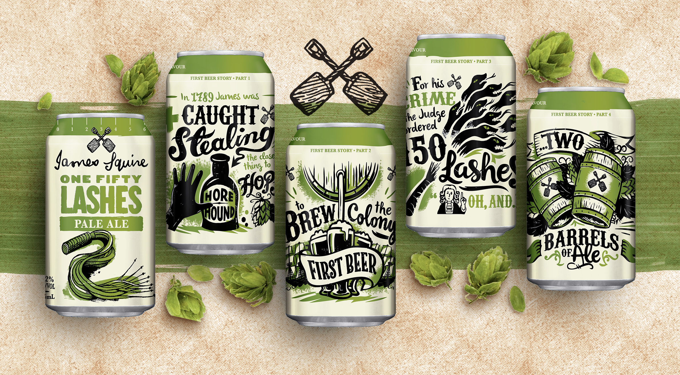 Packaging Design for Australian Ale to Celebrates the Nations First Brewer