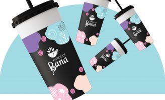 Brand Identity Design for Flavor Of Bana Cafe Located in Saudi Arabia