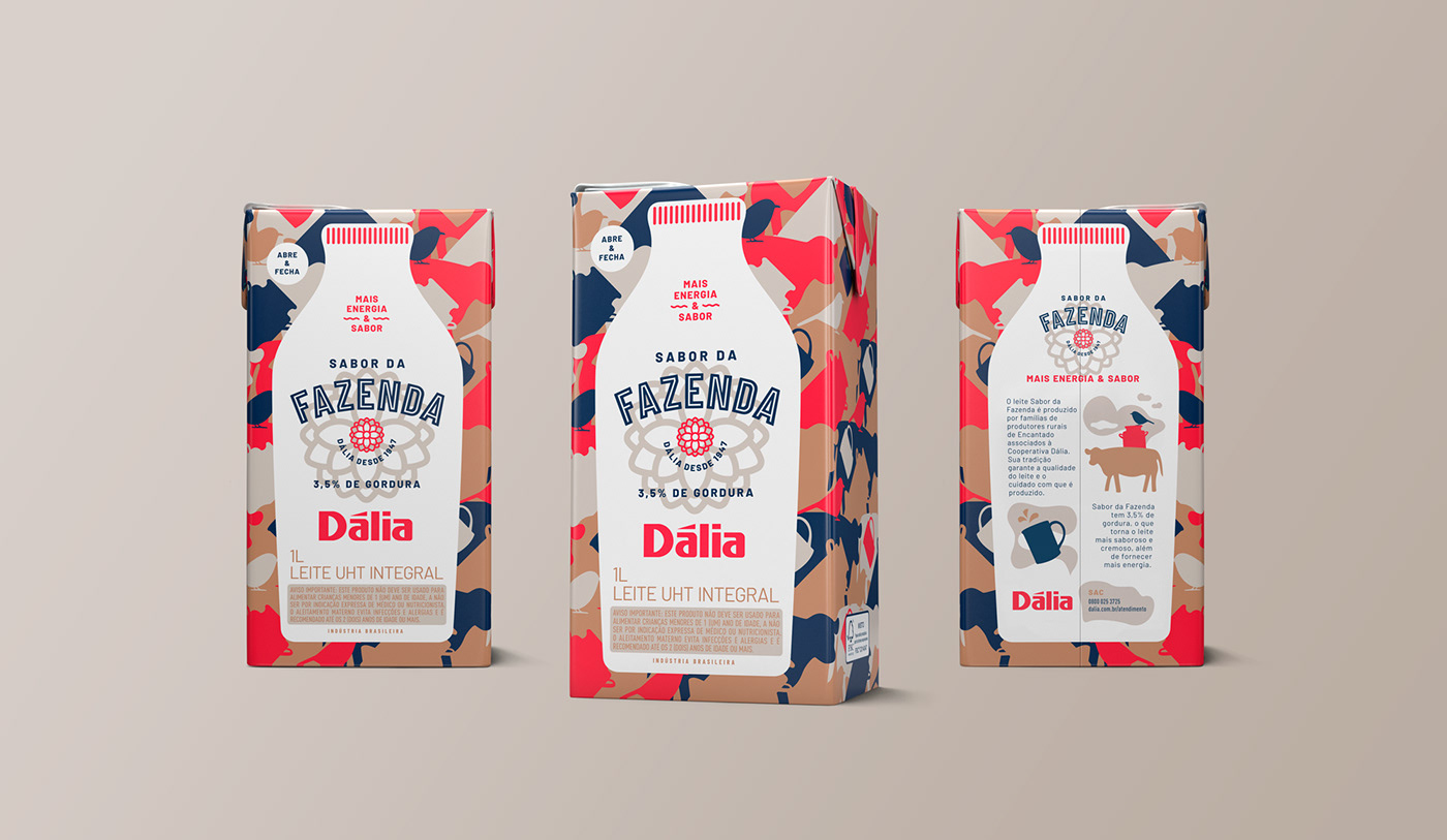 Concept, Visual Language and Packaging Design for 'Dália Sabor' da Fazenda  Dairy Products