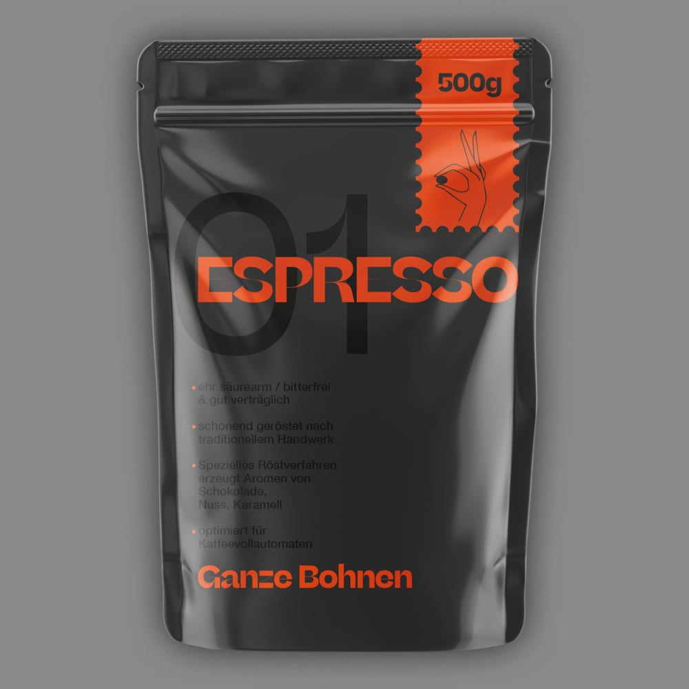 Modern Minimalist Coffee Label Design