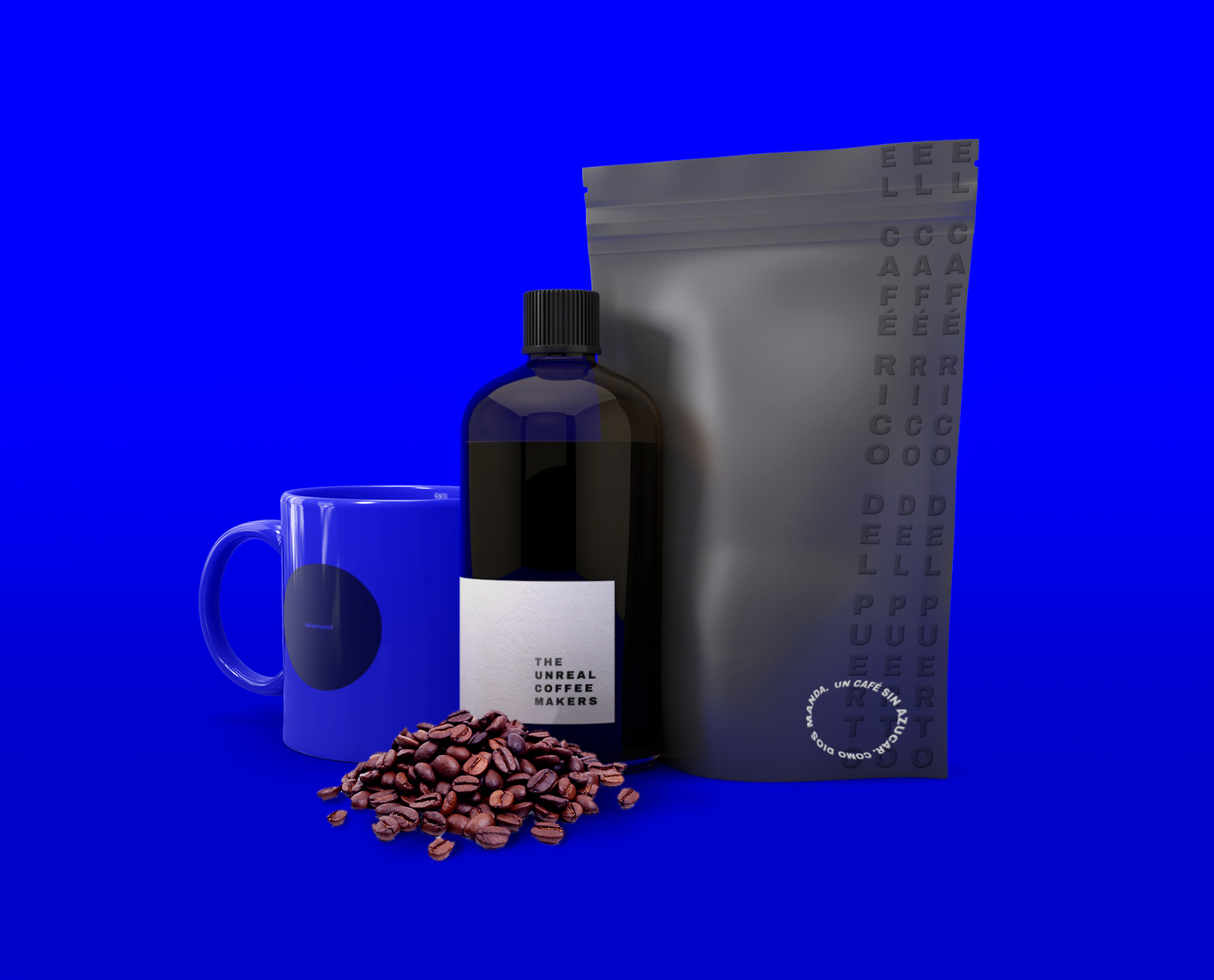 The unreal Coffee Makers, a Graphic Identity Focused on Coffee Lovers