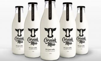 Branding and Packaging Design for Milk Producer Cornish Moo