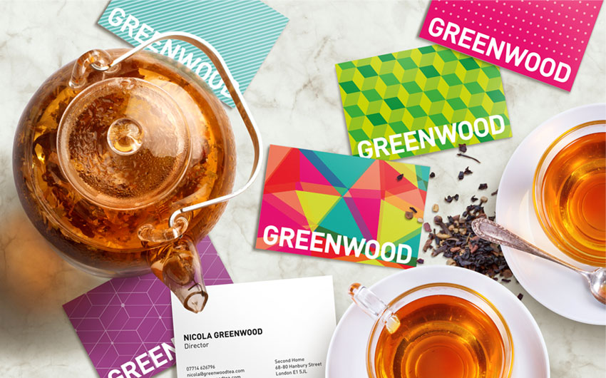 Fresh and Vibrant New Brand Identity for Greenwood Tea in London