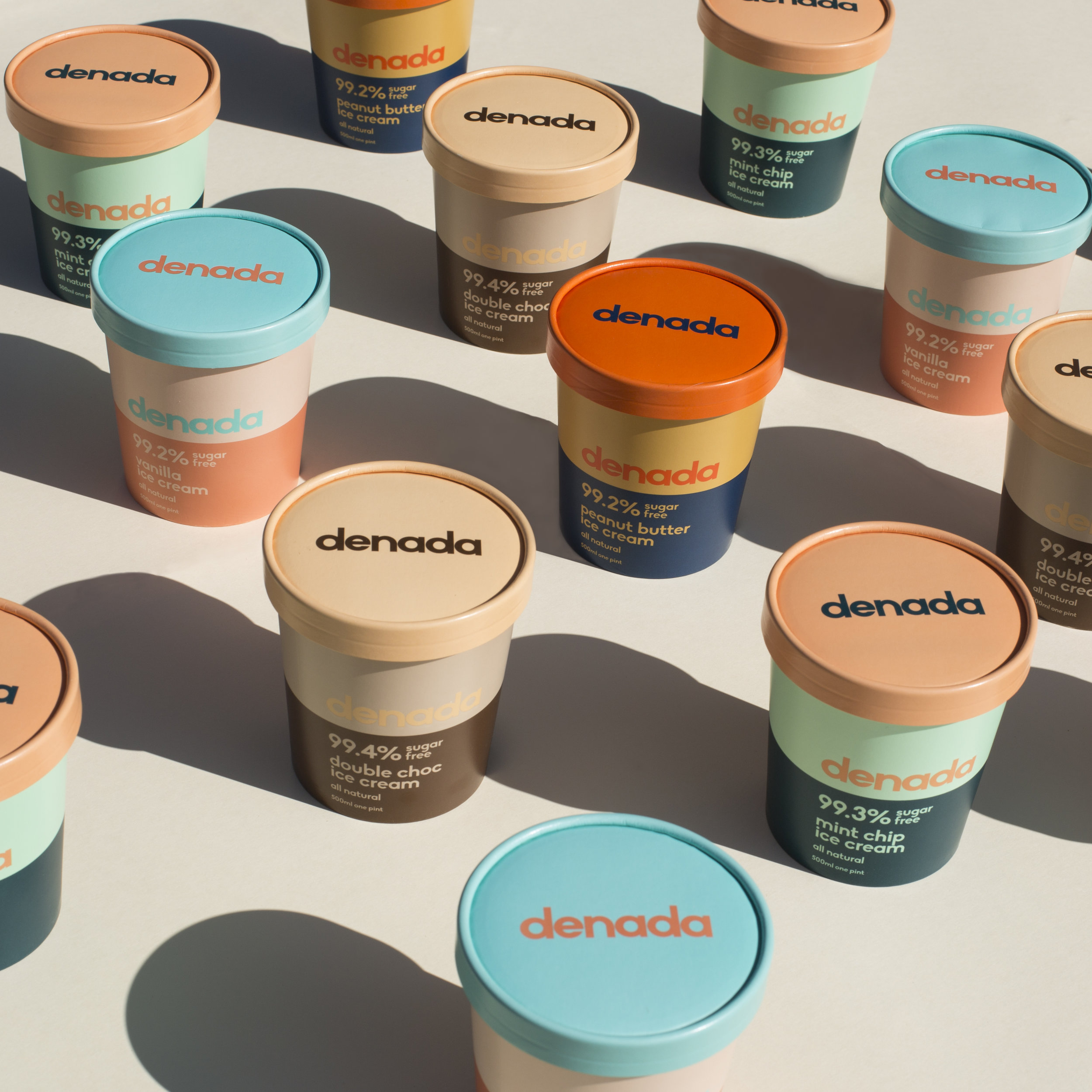 Branding and Packaging for Sugar Free Ice Cream Company