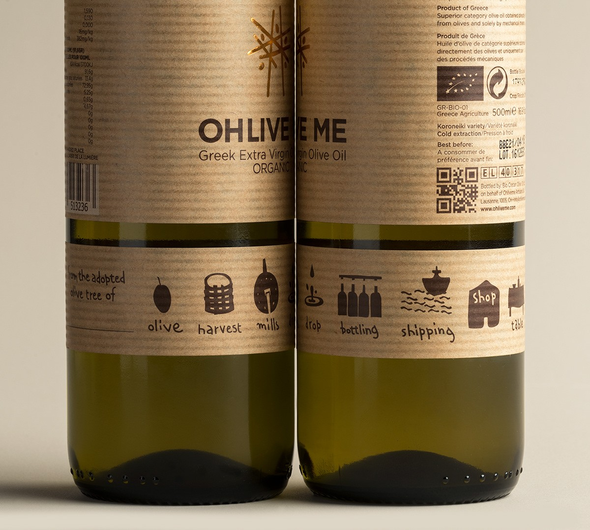 Brand and Packaging Design for Organic Farmed Cretan Extra Virgin Olive Oil