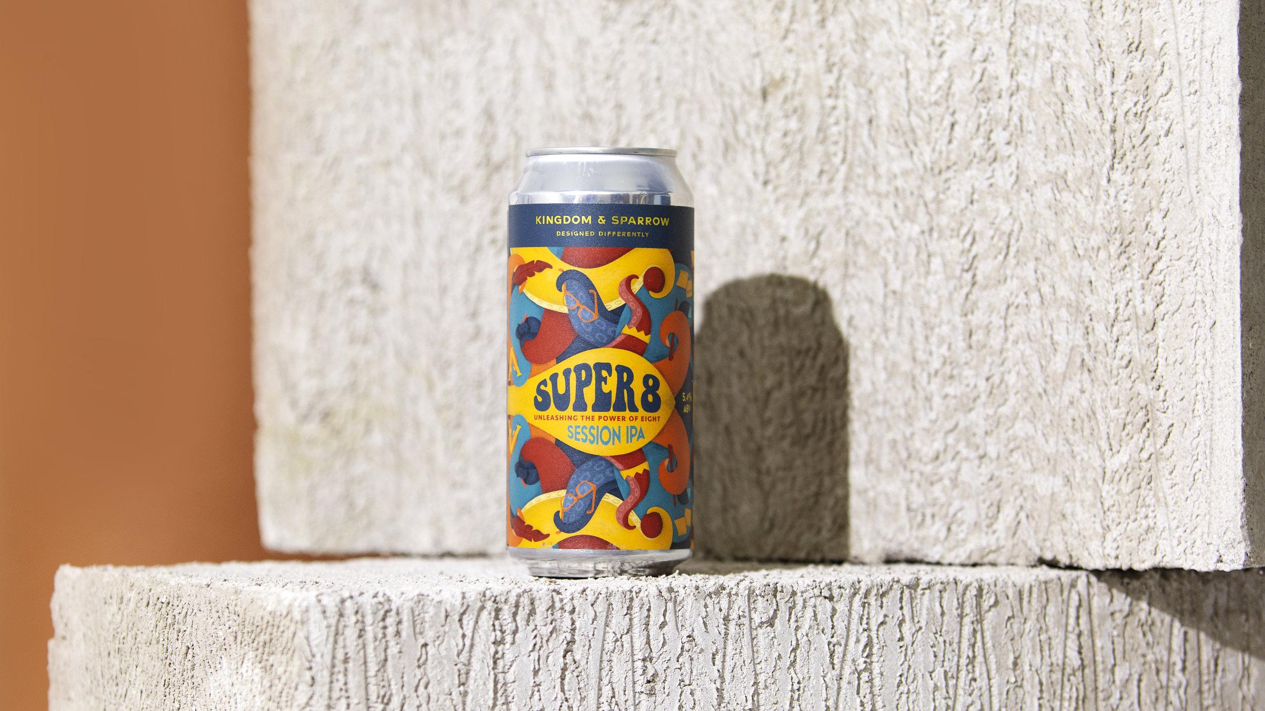 Super 8 Kingdom & Sparrow Studio Beer
