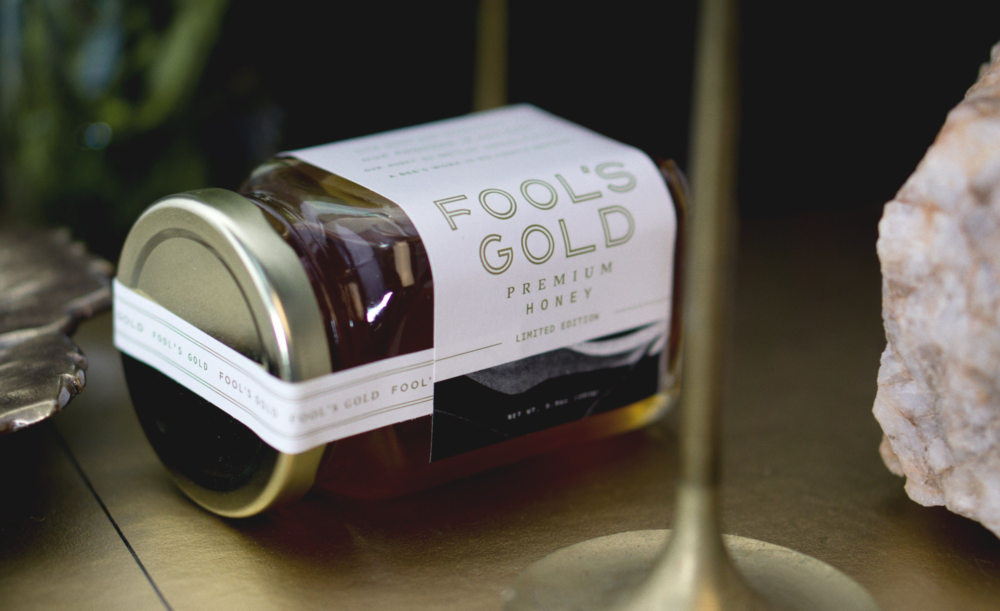 Branding and Packaging Design for Fool's Gold Honey