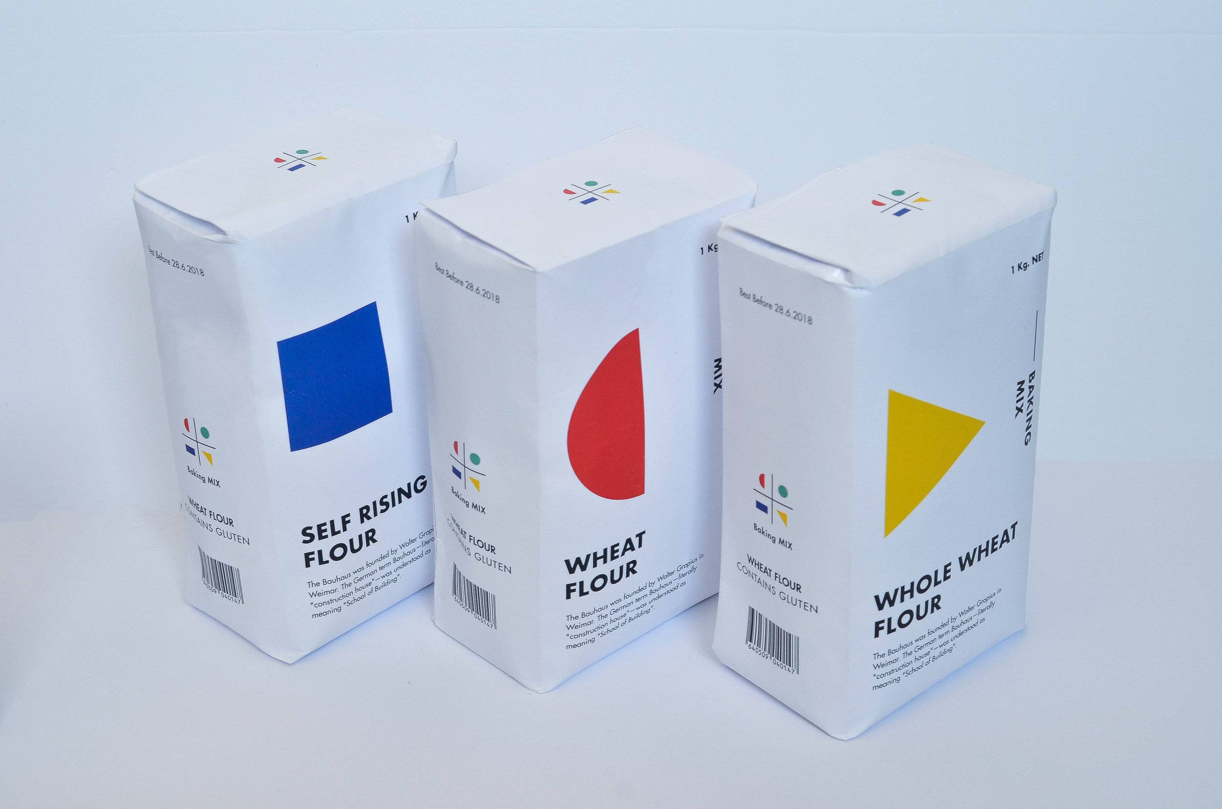 Student Concept for Baking Brand and Packaging Design with Bauhaus Influence