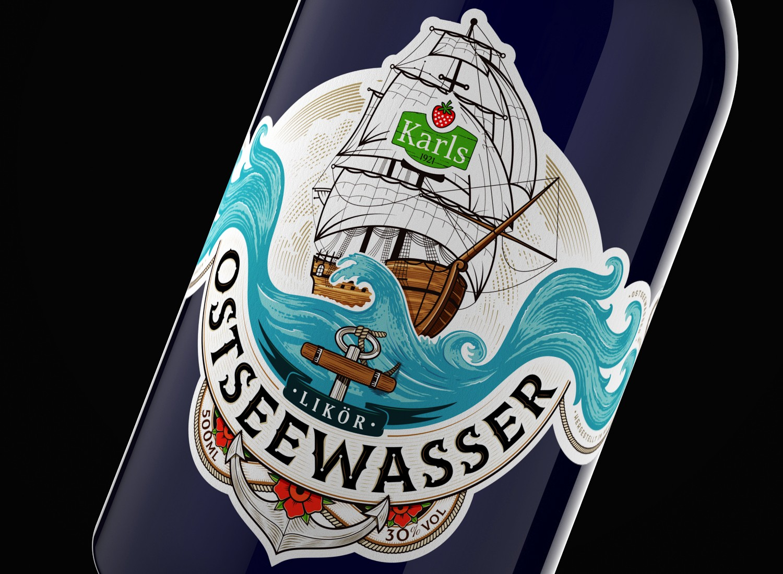 Label Packaging Design for Germany Liquor