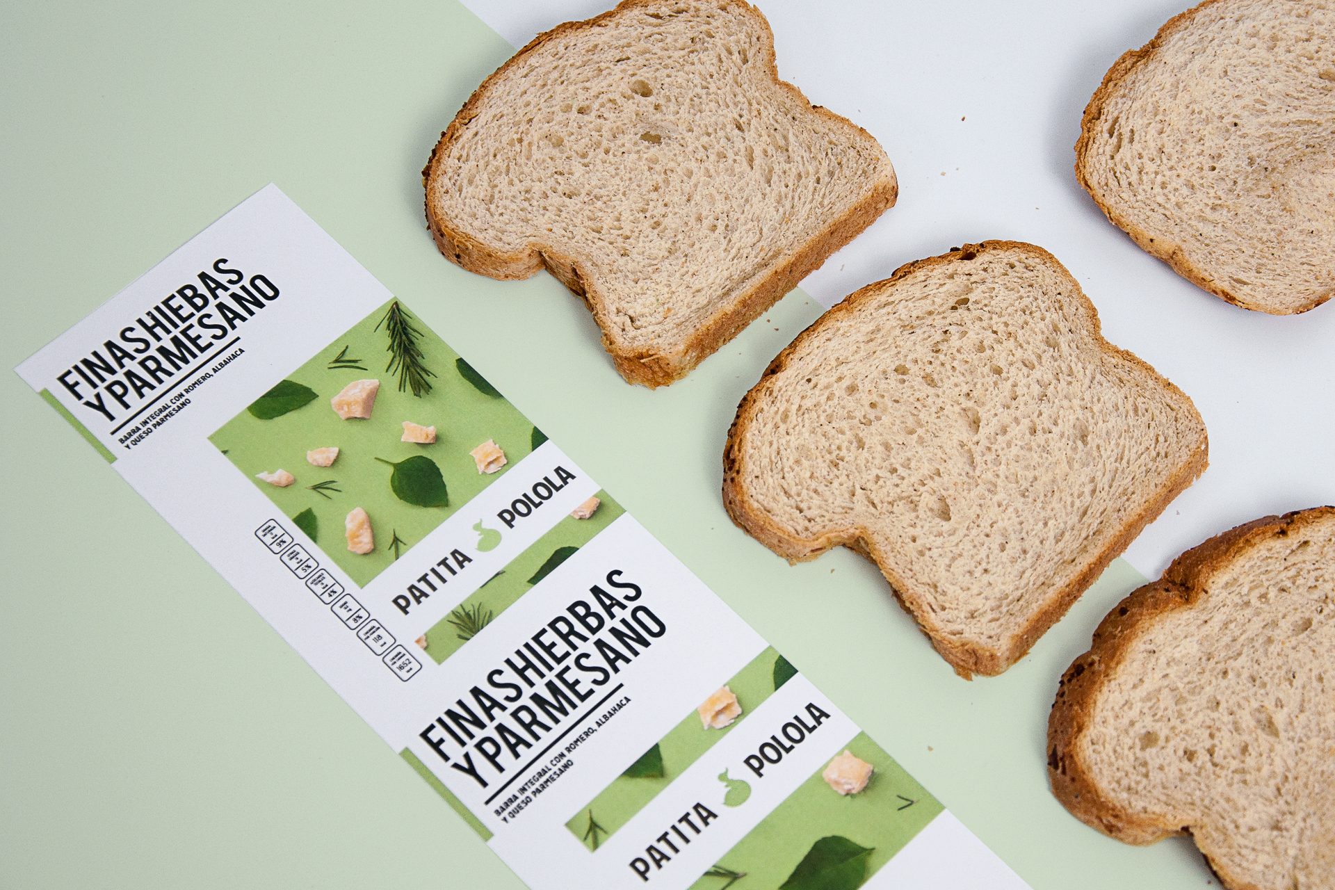 Minimal & Colourful New Packaging Design for Wholemeal Bread Company